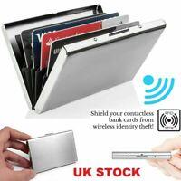Woman Metal Slim Anti-Scan Credit Card ID Holder RFID Blocking Thin Wallet Case