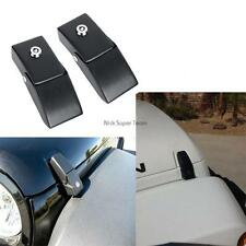 Fit 07-2015 Jeep Wrangler Unlimited Steel Locking Hood Lock Latches Black