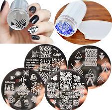 4Pcs Nail Art BORN PRETTY Stamping Plate&Stamper&Scraper Template Image Tools