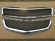 2009-2012 CHEVY TRAVERSE Front Bumper Cover Upper and Lower Grille SET PAIR New