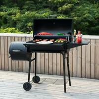 Grill Smoker Combo Charcoal Wood Offset Barrel BBQ Professional Outdoor Cooker