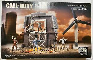 New Mega Bloks Call of Duty Zombies Tranzit Farm 415 pcs Sealed - 06828