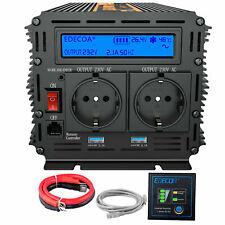 1500W 3000W convertitore Onda Pura inverter 24V 220V LCD Softstart 2 Porte USB