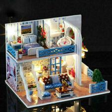 Romantic LED Light Miniature Doll House Dollhouse DIY Kit Birthday Kid Gift Toy