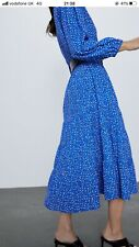 Zara printed midi maxi dress in size XL Bloggers favourite. New with tags 49.99