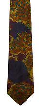 Men's New Silk Neck Tie, Classic, Brown floral design by Jones New York