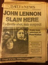 John Lennon Death - NY Daily News Complete Newspaper Dec 9, 1981