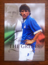 2011 Futera Greats Unique Soccer Card - Italy ZOLA Mint