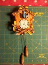 Vintage Faux Norcrest Blue Bird Clock Japan Cukoo Clock Wall Pocket