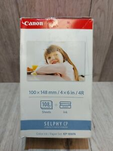 Canon Selphy CP1300 CP1200 Color Ink Paper Set KP-108IN