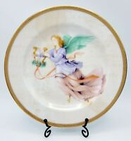 "Charter Club Grand Buffet Gold (Angels) 8"" Salad Plate - Pink Angel w/ Harp"