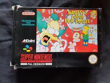 KRUSTY'S SUPER FUN HOUSE Super Nintendo SNES Game