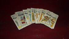 OLD AUSTRALIAN MATCHBOX LABEL COMPLETE SET OF 32, BRYMAY REDHEADS COSTUME SERIES