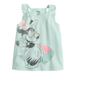 Disney's Minnie Mouse Toddler Girl Glittery Hula Graphic Tank Top