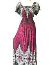 PLUS SIZE Women Long Maxi Summer Beach Hawaiian Boho Evening Party Sundress Gown