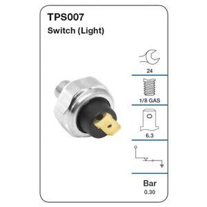 Tridon Oil Pressure Switch TPS007 fits Mitsubishi 380 3.8 i (DB)