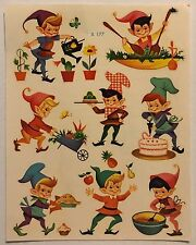 Vintage 50s Meyercord Pixie Elf Decals Retro Stickers Mid Century Modern Chicago