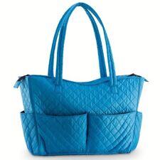 Quilted Shoulder Beauty Sky Blue Bag Brush Storage Pocket Cosmetic Bottles Brush