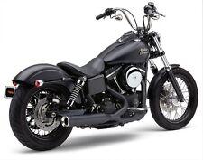Cobra Black PowerPro HP 2 into 1 RPT Exhaust for Harley Dyna FXD 06-11