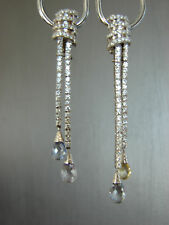 1.92 Carat G-VS2 Round Diamond Drop Earrings 18k White Gold COA $6500