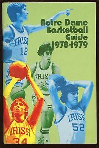 1978/1979 NCAA Basketball Notre Dame Yearbook With Bill Lambeer EX+