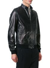 ★Giacca Giubbotto Uomo in di PELLE 100% Men Leather Jacket Veste Homme Cuir Y95