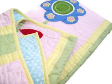 Pottery Barn Kids Pink Green Floral Flowers Abby Twin Quilt Brand New