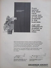 5/69 PUB SWEARINGEN AIRCRAFT SAN ANTONIO TEXAS MERLIN IIB METRO ORIGINAL AD