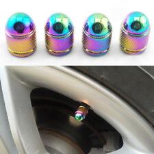 4 Pcs/Set Vehicle Car Valve Caps Rainbow Colors Oval Tire Valve Caps 17*7mm