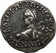 Menander I Soter 160BC Indo Greek Baktrian Kingdom in India Ancient Coin i44994