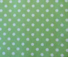 PRINTED PATTERN Acrylic Felt Green with White Spots