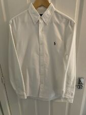 Polo Ralph Lauren Oxford de Superdry Blanco Talle mediano Slim Fit