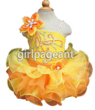 Infant/toddler Sequins Lace Crystals Pageant Glitz Dress 12~18 months G107