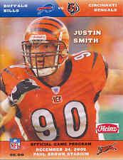 Cincinnati Bengals Buffalo Bills 12/24/05 NFL Game Program...Justin Smith