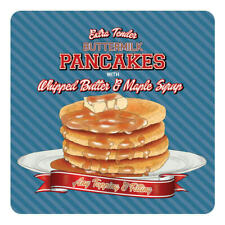 Pancakes and Maple Syrup, Retro Diner Style Food Drinks Table Coaster