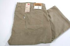 New Levis Strauss 559 Big & Tall Tan Corduroy Jeans Pants Size 54 W x 29 L