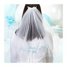 Bride to Be Veil Embroidered Bridal Shower Hens Night Party Accessory