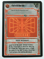 Star Wars CCG Decipher A NEW HOPE BB Limited you 're all clear Kid! NM/M SWCCG
