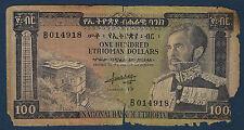 ETHIOPIE - 100 DOLLARS Pick n° 29a. de 1966. en B-    B 014918