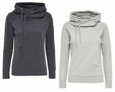 JDY by ONLY Damen Sweatshirt Pullover jdyMARANTO HOOD SWEAT Kapuze Hoodie grau