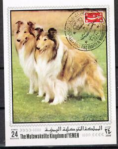 Yemen Kingdom Fauna Pets Dogs Souvenir Sheet 1972