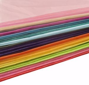 20 Large Mixed Coloured Tissue Paper Sheets Pack Create Arts Crafts Wrap 66X50cm