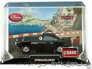 Disney Store Pixar CARS 2 Diecast Stealth Finn McMissile Collectors Case New