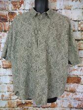 Bugle Boy 2XL Short Sleeve Button Up Shirt Olive Khaki