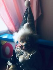 Creepy Clown Doll Swing Halloween Prop Scary Doll Goth Evil Handpainted OOAK