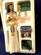 Lenox Figurine Legendary Princess Cleopatra W/Cat & Stool Orig. Box Mint