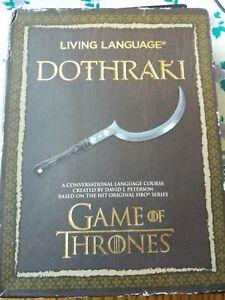 Living Language Dothraki (Game Of Thrones) a conversational language course..