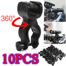 10PCS 360° Swivel Bicycle Bike Mount Holder Clip Clamp for Led Flashlight Torch