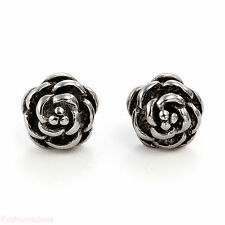 Charm Rose Flower Shape Rhinestone Stainless Steel Ear Stud Earrings For Gift