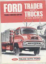 1964 Ford Trader Mark II 4 Ton Truck Brochure Australia wu0997